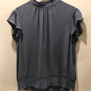 Size L NY&CO grey blouse with button back detail
